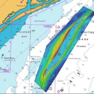 Hydrographic-survey chart